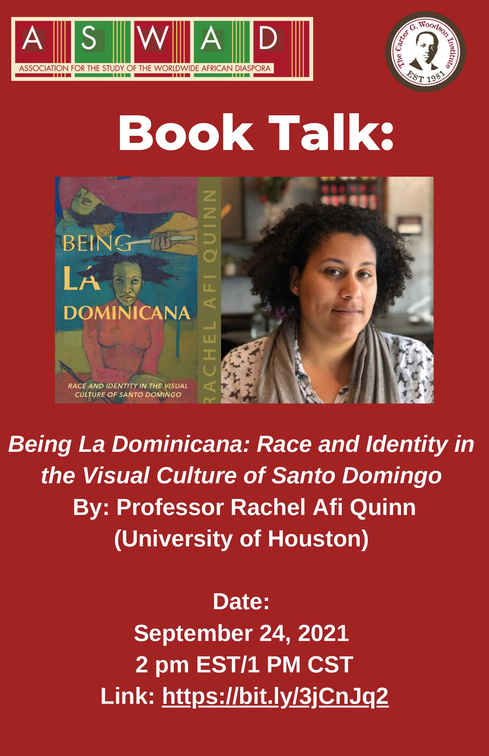 Book Talk: Being La Dominicana: Race and Identity in the Visual Culture of Santo Domingo